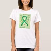 Adrenal Cancer Green Awareness Ribbon Angel Shirt