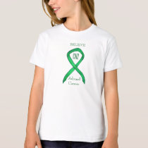 Adrenal Cancer Green Awareness Ribbon T-Shirt