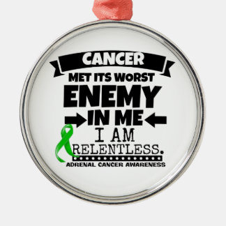 Adrenal Cancer Met Its Worst Enemy in Me Metal Ornament