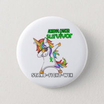 ADRENAL CANCER Survivor Stand-Fight-Win Button