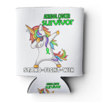 ADRENAL CANCER Survivor Stand-Fight-Win Can Cooler