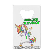 ADRENAL CANCER Survivor Stand-Fight-Win Credit Card Bottle Opener