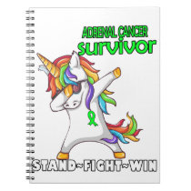 ADRENAL CANCER Survivor Stand-Fight-Win Notebook