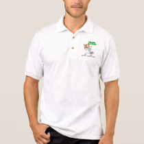 ADRENAL CANCER Survivor Stand-Fight-Win Polo Shirt