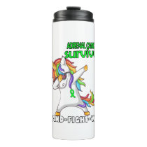 ADRENAL CANCER Survivor Stand-Fight-Win Thermal Tumbler