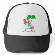 ADRENAL CANCER Survivor Stand-Fight-Win Trucker Hat