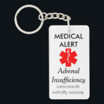 "adrenal insufficiency key chain<br><div class=""desc"">medical alert key chain for people with adrenal insufficiency</div>"