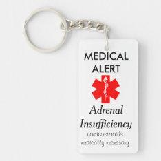 adrenal insufficiency key chain at Zazzle