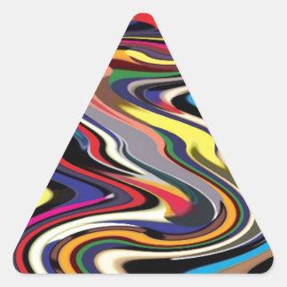 Adrenalina del alto rendimiento: Empujar límites Pegatina Triangular