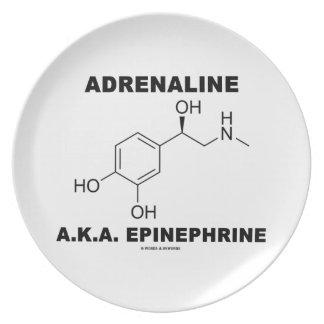 Adrenaline A.K.A. Epinephrine (Chemistry) Dinner Plate