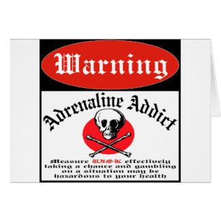 Adrenaline Addict Card