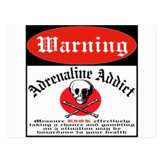 Adrenaline Addict Postcard