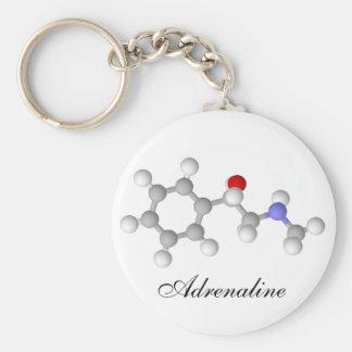 Adrenaline Basic Round Button Keychain