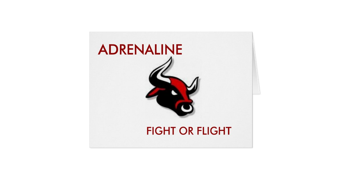 adrenaline  fight or flight card