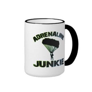 Adrenaline Junkie Ringer Coffee Mug