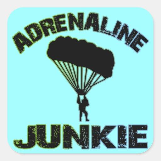 Adrenaline Junkie Square Sticker