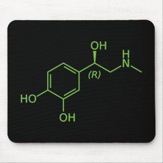 Adrenaline Molecule Chemical Diagram Mouse Pad