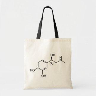 Adrenaline Molecule Chemical Diagram Tote Bag