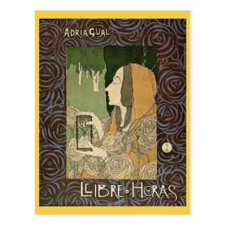 Adrià Gual, Llibre d'Horas, Book of Hours Vintage Postcard