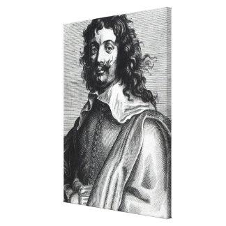 Adriaen Brouwer, engraved by Edme de Boulonois Canvas Print