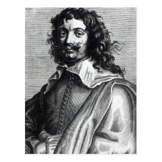 Adriaen Brouwer, engraved by Edme de Boulonois Postcard