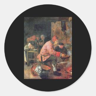 Adriaen Brouwer Pancake Round Stickers