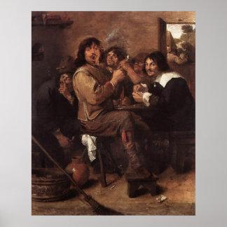 Adriaen Brouwer Smoking Men Posters