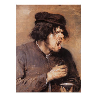 Adriaen Brouwer The Bitter Draught Poster