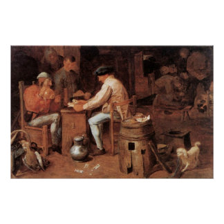Adriaen Brouwer The Card Players Poster