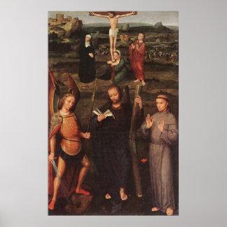Adriaen Isenbrandt Archangel St Michael St Andrew Poster