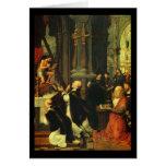 Adriaen Isenbrandt la masa de St Gregory Tarjetas