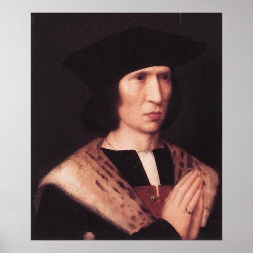 Adriaen Isenbrandt Portrait of Paulus de Nigro Poster