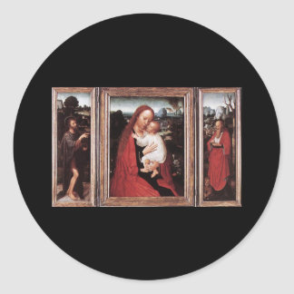 Adriaen Isenbrandt Triptych Round Sticker