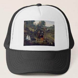 Adriaen van de Velde Portrait of a couple with two Trucker Hat