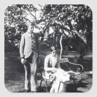 Adrian and Virginia Stephen, 1900 Square Sticker
