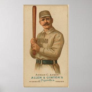 Adrian C. Anson, medias del blanco de Chicago Póster