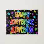 "[ Thumbnail: ""Adrian"" First Name, Fun ""Happy Birthday"" Jigsaw Puzzle ]"