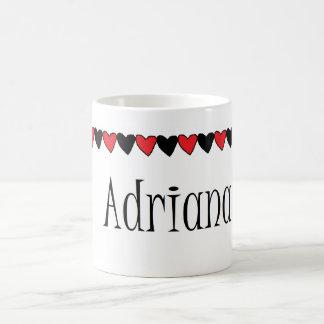 Adriana Hearts Name Coffee Mugs
