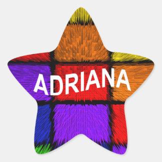 ADRIANA (nombres femeninos) Pegatina En Forma De Estrella