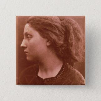 Adriana (sepia photo) pinback button
