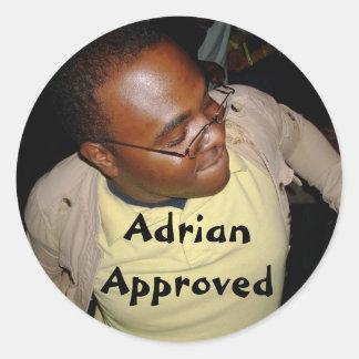 AdrianApproved Pegatina Redonda