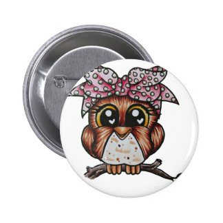 Adriana's Owl by Cheri Lyn Shull 2 Inch Round Button