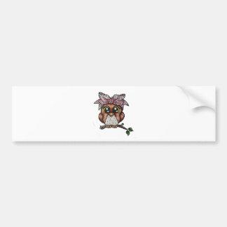 Adriana's Owl by Cheri Lyn Shull Bumper Sticker