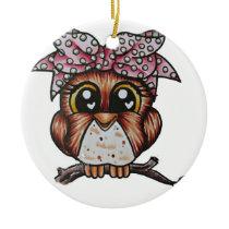 Adriana's Owl by Cheri Lyn Shull Ceramic Ornament