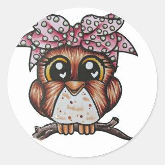 Adriana's Owl by Cheri Lyn Shull Classic Round Sticker