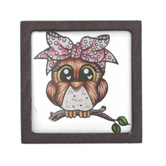 Adriana's Owl by Cheri Lyn Shull Jewelry Box