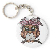 Adriana's Owl by Cheri Lyn Shull Keychain