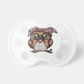 Adriana's Owl by Cheri Lyn Shull Pacifier