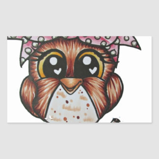 Adriana's Owl by Cheri Lyn Shull Rectangular Sticker