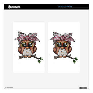 Adriana's Owl by Cheri Lyn Shull Skins For Kindle Fire